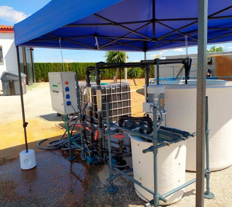 Vista general de la planta piloto para la retirada química de fosforo de las aguas residuales urbanas